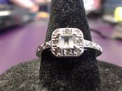 Aquamarine Lady's Silver & Stone Ring 925 Silver 2.63g